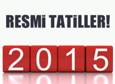 2015 Yılı Resmi Tatiller