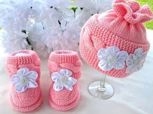 Pembe kız bebek patik ve bere yapılışı (ANLATIMLI)