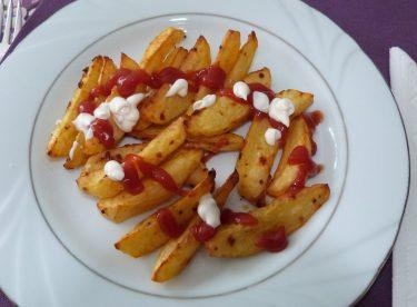 Fırında Patates Kızartması Tarifi | Soslu Patates Kızartması | Elma Dilimli Patates Kızartması