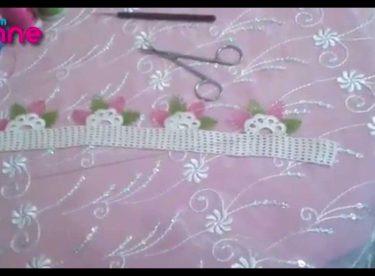 Havlu Kenarı İğne Oyası Badem Modeli Yapımı