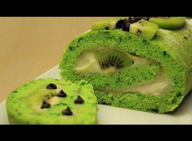 Ispanaklı Rulo Pasta Tarifi – Meyveli Damla Çikolatalı Yaş Pasta