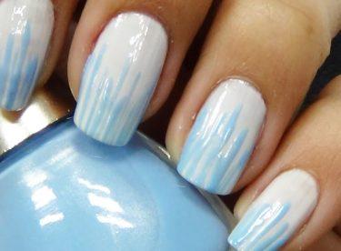 Mavi Çubuk Oje Deseni – Nail Arts