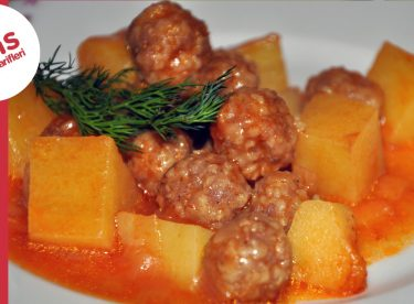 Patatesli Sulu Köfte Yemeği