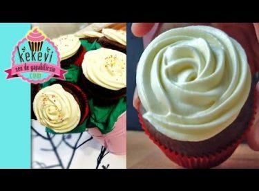 TopKek Çiçek Buketi 2. Bölüm – Krem Peynirli Cupcake Kreması
