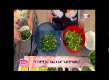 Yemyeşil Salata Tarifi