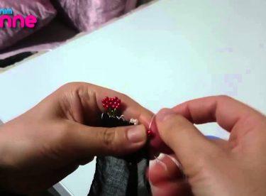 İğne Oyası Boncu ile Çiçek Yapımı