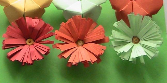 Elişi Kağıdından Çiçek Yapımı