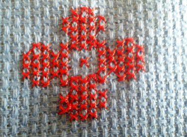 Kanaviçe Etamin Seccade Gül Çiçek Yapımı