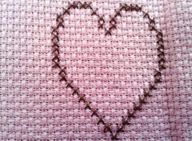 Kanaviçe Kalp Yapımı