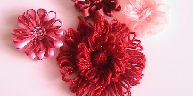 Kasnakla Motifli Çiçek Yapımı