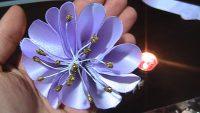Kurdeladan Çiçek Yapımı (Saten Kurdela)