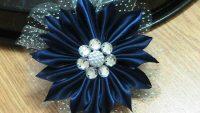 Kurdeleden Çiçek Yapımı – Saka Mavisi Kurdele