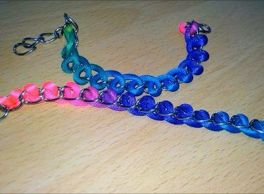 Renkli İp ile Gökkuşağı Bileklik Yapımı
