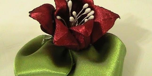 Saten Kurdeleden Tesbih Çiçeği Yapımı