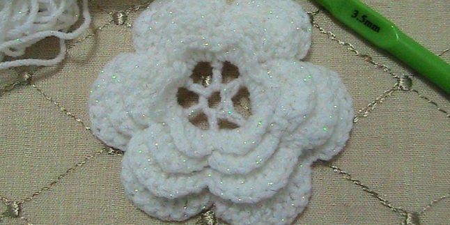 Tığ İşi Çiçek Motifi Yapımı