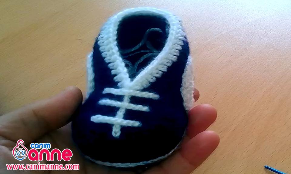 Spor Örgü Bebek Patiği Yapılışı