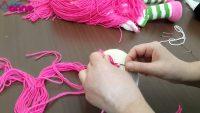Şeker Kız Saç Ekimi Yapılışı Örgü Oyuncak Amigurumi