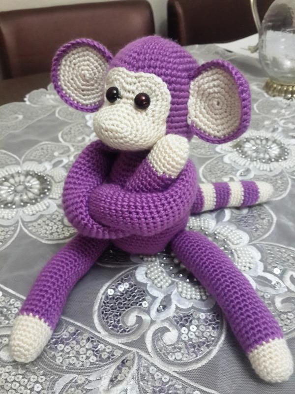 ?rg? Oyuncak Maymun Yap?l??? (Amigurumi) - Can?m Anne