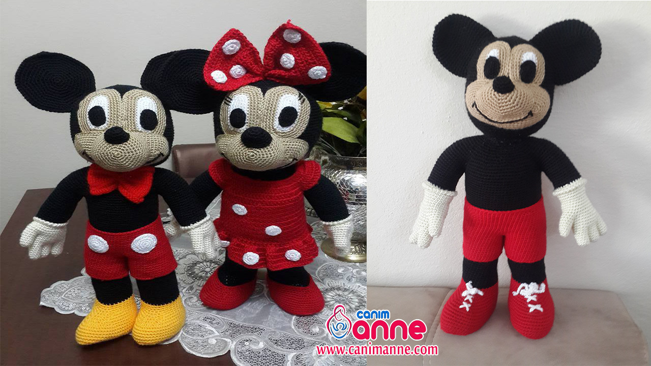 Mickey Mouse Amigurumi Schema : Amigurumi Mickey Mouse (Miki Mause) Yap?l??? - Can?m Anne