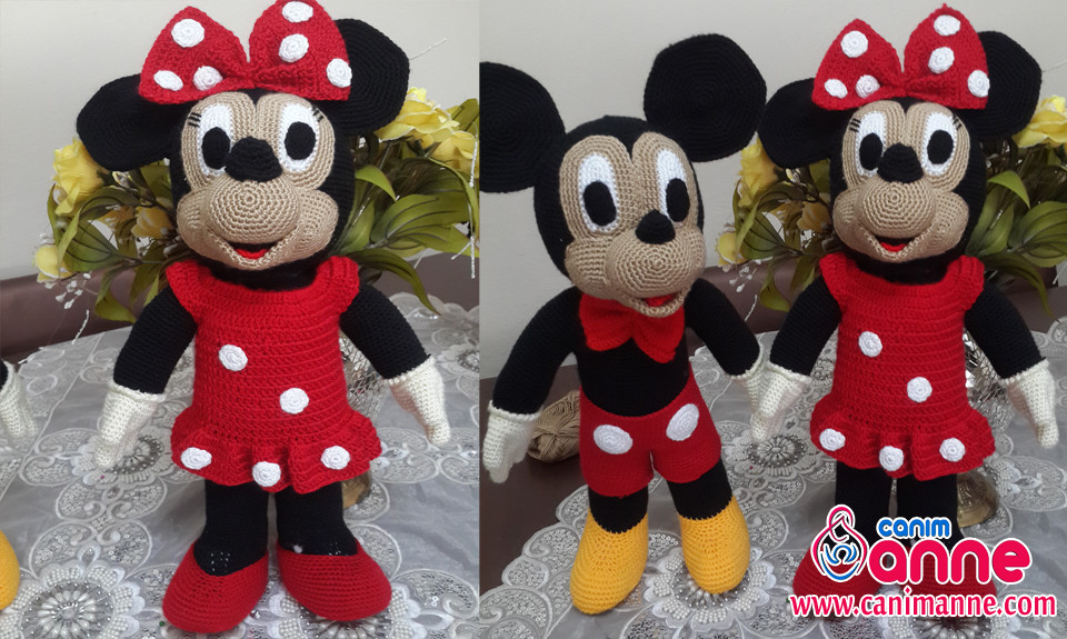 Free Amigurumi Pattern Little Girl Kate : Amigurumi Mickey Mouse (Miki Mause) Yap?l??? - Can?m Anne