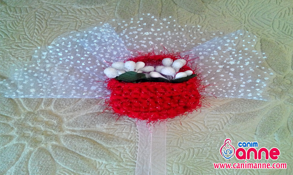 Dolap Süsü Çiçek Sepeti Magnet Yapımı