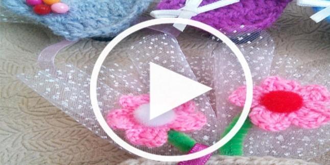 Dolap Süsü Saksıda Çiçek Magnet Yapımı