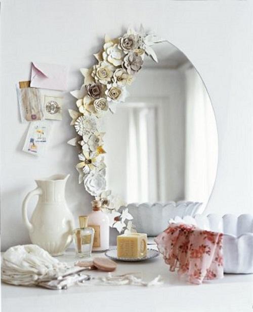 Yumurta Kartonu ile Ayna Süsleme