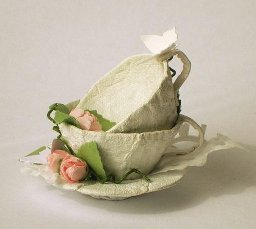 Yumurta Kartonundan Dekoratif Çay Bardağı