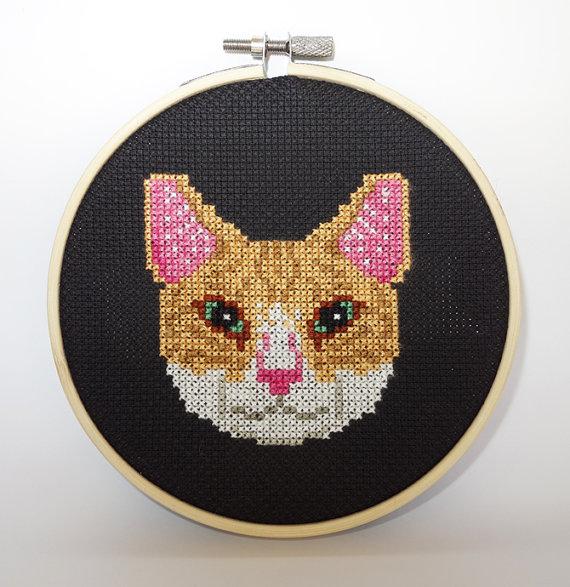 Kanaviçe Kedi (43)