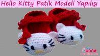 Hello Kitty Bebek Patik Modeli Yapımı