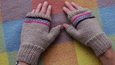 Parmaksız eldiven nasıl örülür anlatımlı