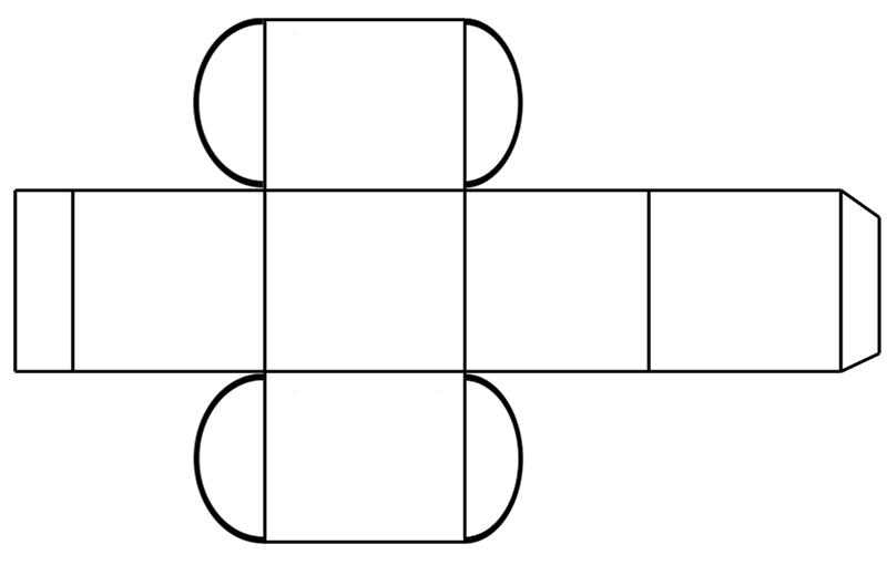 Hediye Kutusu Yapımı Şablon