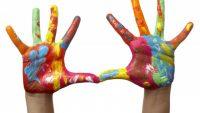 Rengarenk Oyun Parmak Boyası