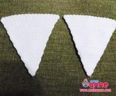 Üçgen Çiçekli Lif Modeli Yapılışı (7)