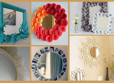Ayna çerçevesi süsleme yapımı fikirleri 20 adet