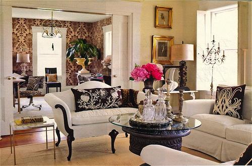 romantik-salon-dekorasyonu