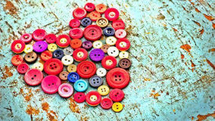 Düğmelerden Bardak Altı Yapımı