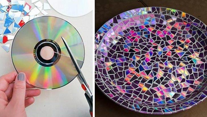 Eski CD'ler ile Tepsi Kaplama Yapımı
