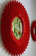 plastik kaşıklardan dekoratif ayna yapımı2