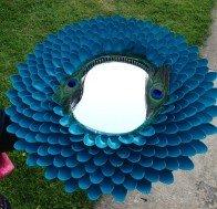 plastik kaşıklardan dekoratif ayna yapımı5
