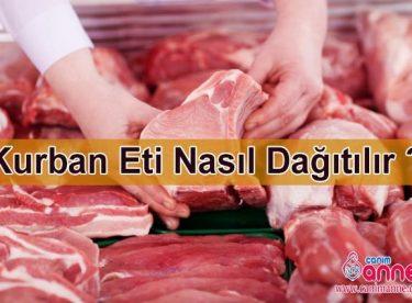 Kurban eti nasıl dağıtılır? Kurban eti nasıl pay edilir ?