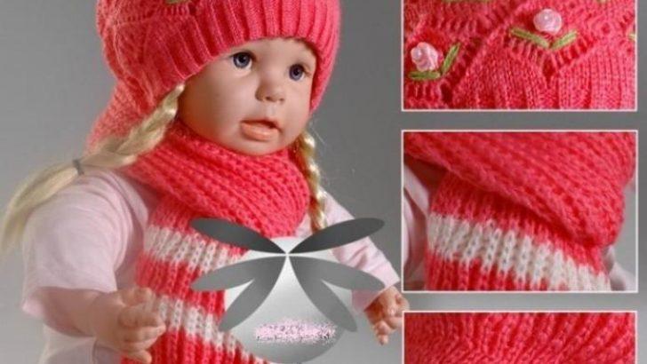 2017 Örgü Kız Çocuk Şapka Atkı Modelleri