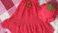 2017 Örgü Kız Bebek Elbise Modelleri
