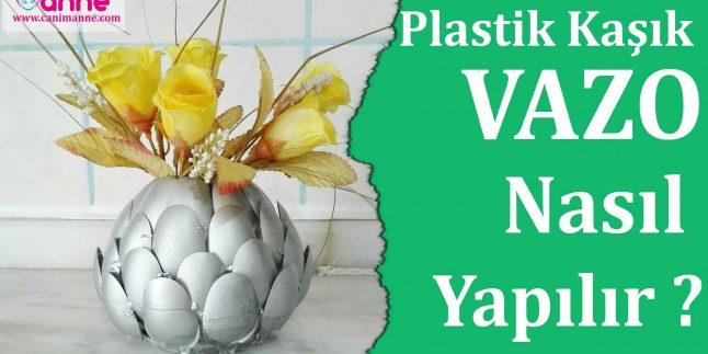 Plastik Kaşıktan Vazo Nasıl Yapılır – DIY – KENDİN YAP