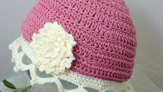 Tığ İşi Bebek Şapkaları