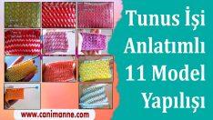 Tunus İşi Örgü 11 Modelin Yapılışı
