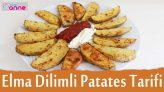 Fırında Elma Dilimi Şeklinde Patates Kızartması Tarifi