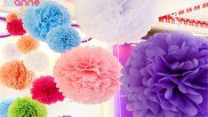 Krapon Kağıdı ile Çiçek Yapımı – Süsleme Fikri