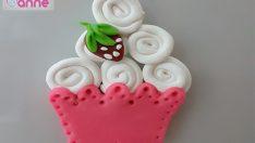 Polimer Kil ile Dolap Süsü Cupcake Yapımı