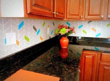 Kendin Yap – 6 Adet Mutfak Tezgahı Arkası Fikri